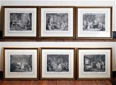 Group 6 Hogarth Engravings Marriage Ala Mode