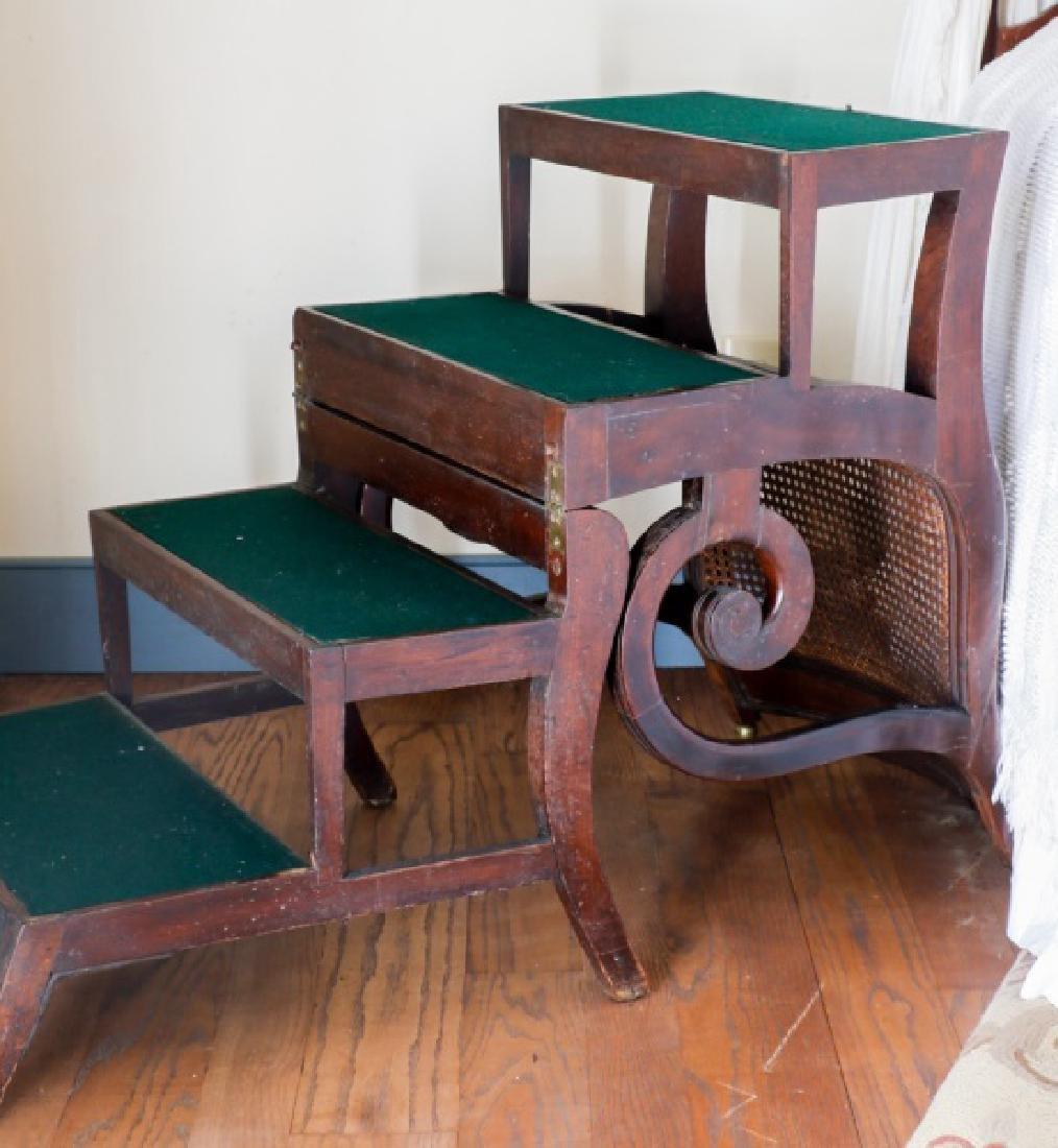 English Regency Metamorphic Mahogany Library Chair
