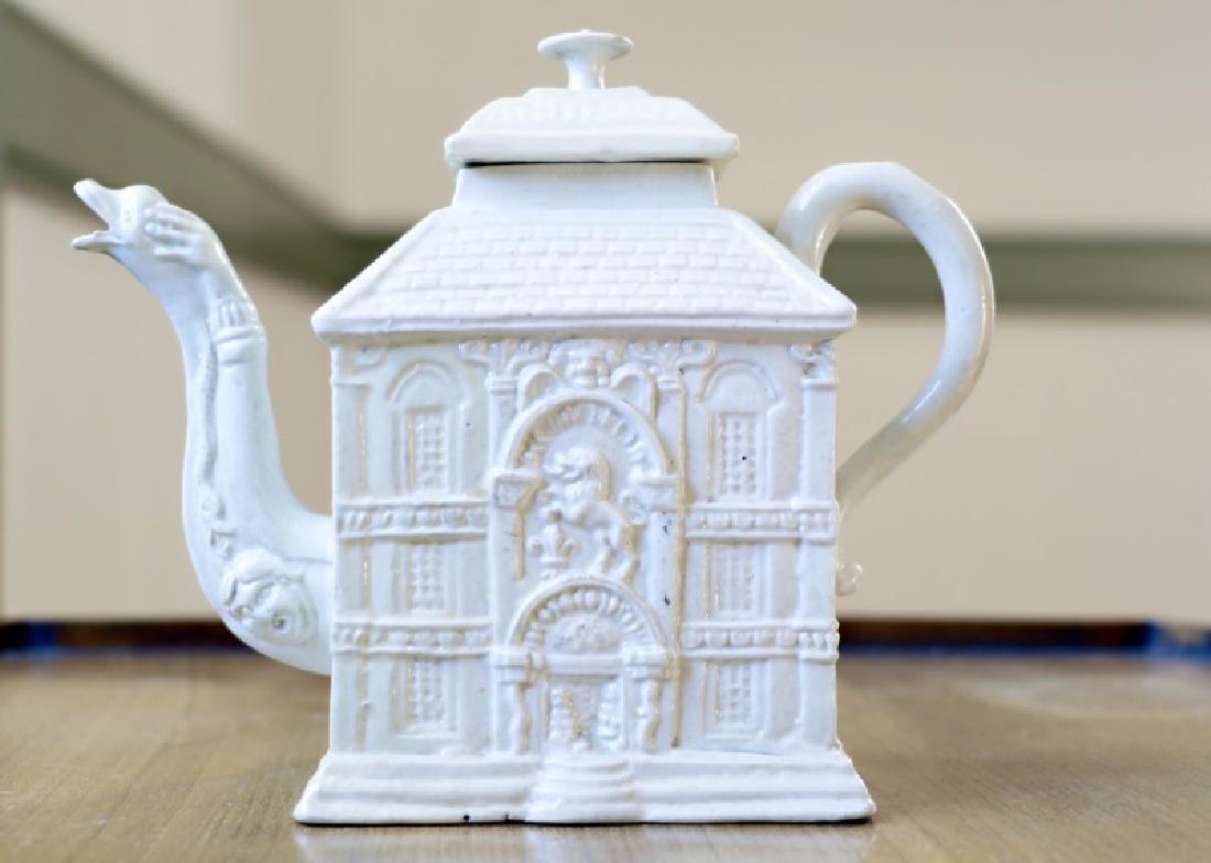 Georgian Salt Glazed House Teapot, circa 1745
