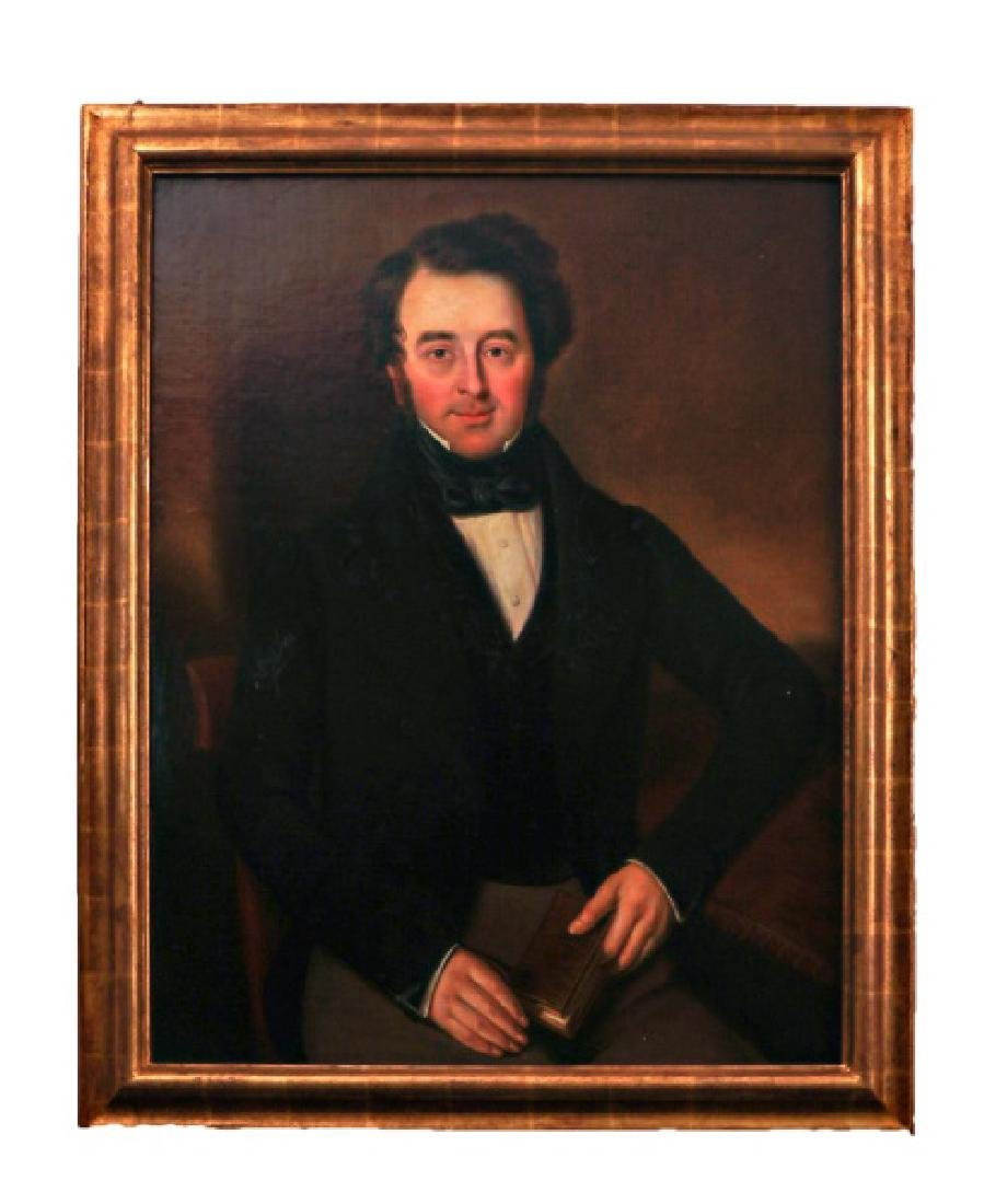 Portrait of a Gentleman, 19th C. Oil on Canvas