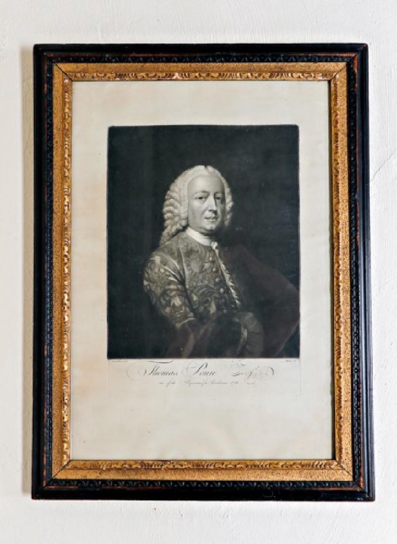 "David Martin ""Thomas Penn,"" Steel Engraving"