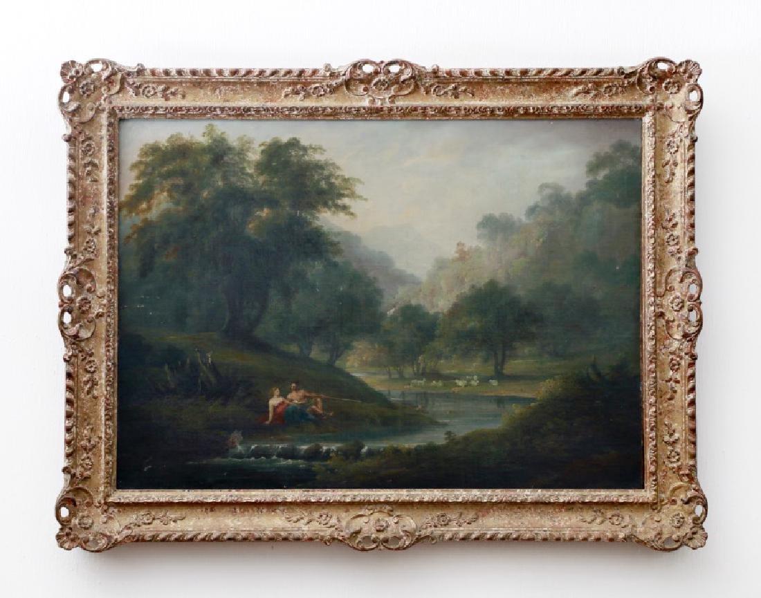 Manner of Claude Lorrain, Landscape, O/C