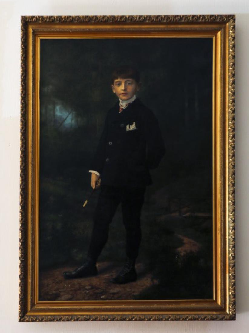 Rudolph Tschudi, Portrait of a Young Man, O/C