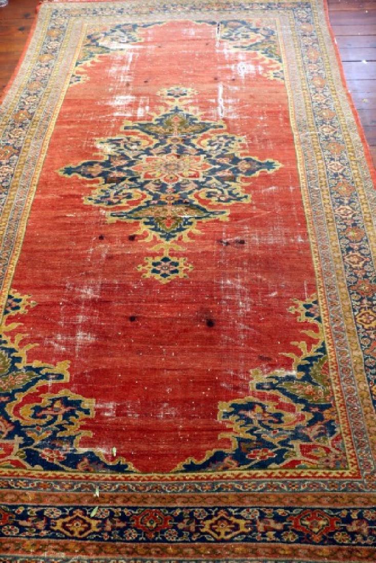 Persian Tabriz Red & Blue Rug, 13'7'' x 7'9''