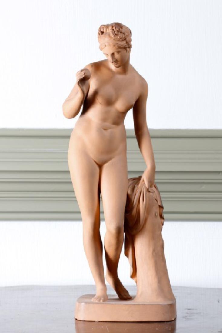 "Danish Terracotta Sculpture ""Figure of Venus"""
