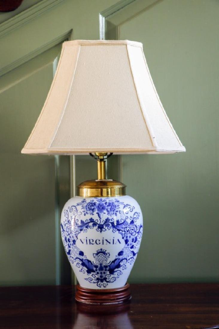 Delft Williamsburg Restoration Table Lamp