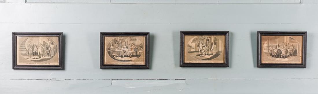 "Set, Four ""Prodigal Sons"" Engravings, 19th C"