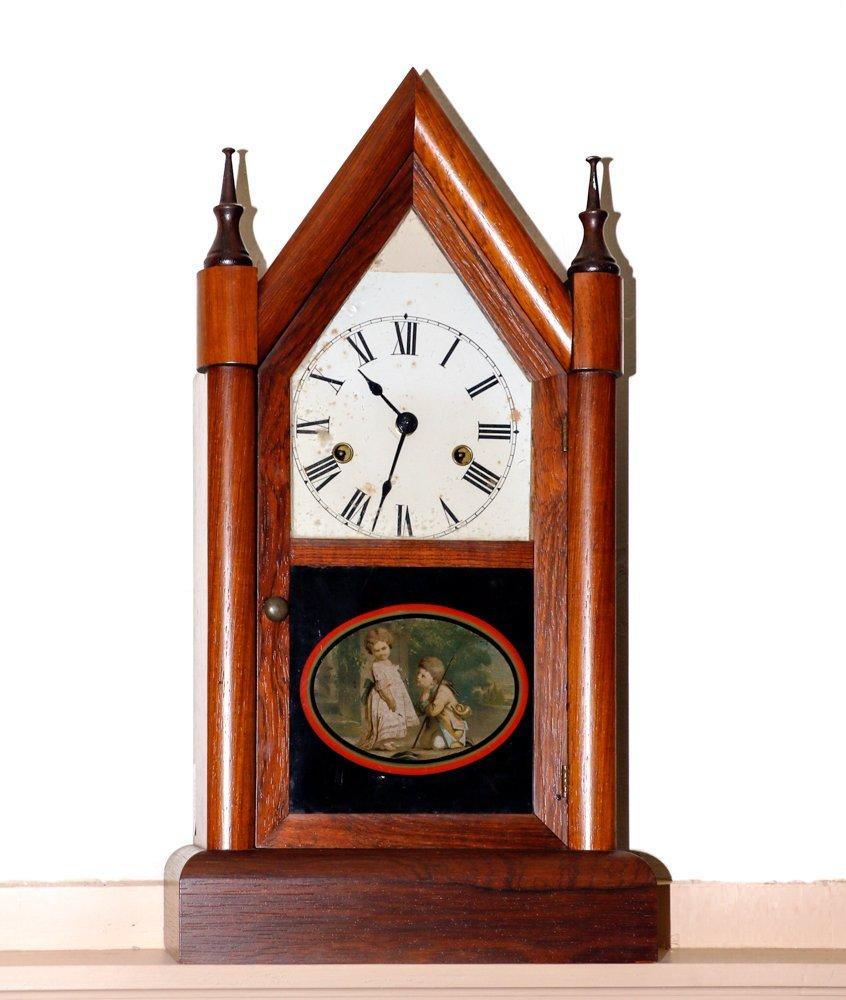 Seth Thomas Steeple Mantel Clock, circa 1830s