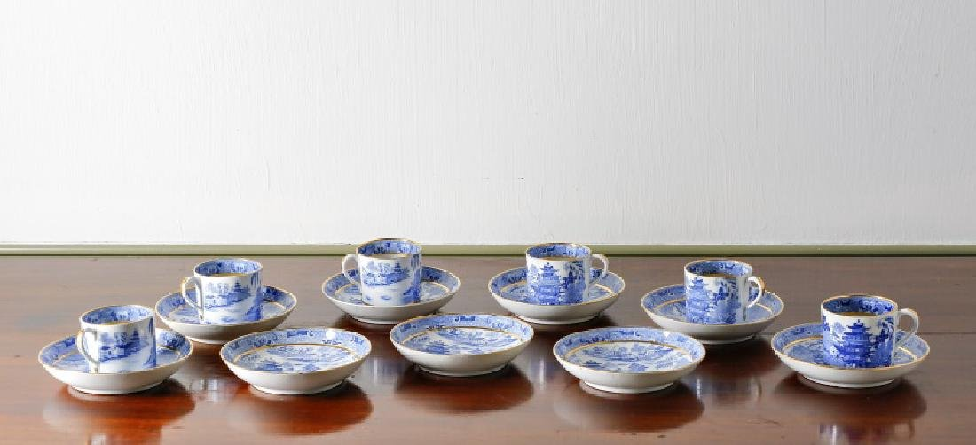 Set of 15 Blue Willow Cups & Saucers