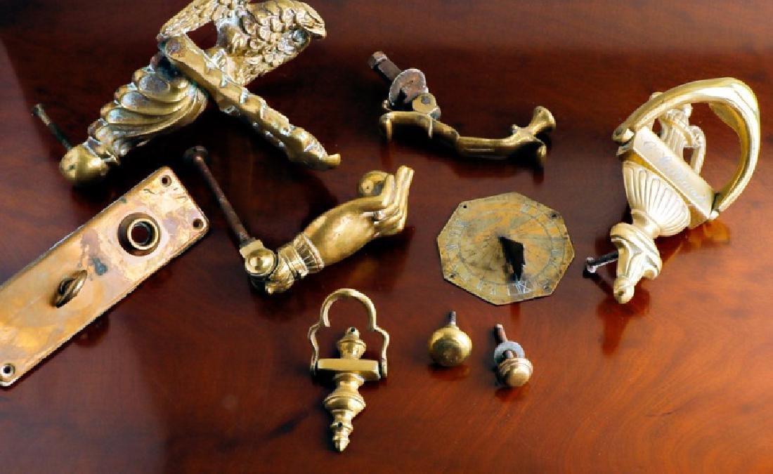 Assorted Bronze & Brass Hardware Group