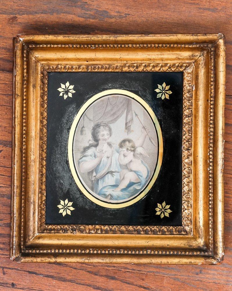 Venus & Cupid Aquatint on Paper, early 19th C