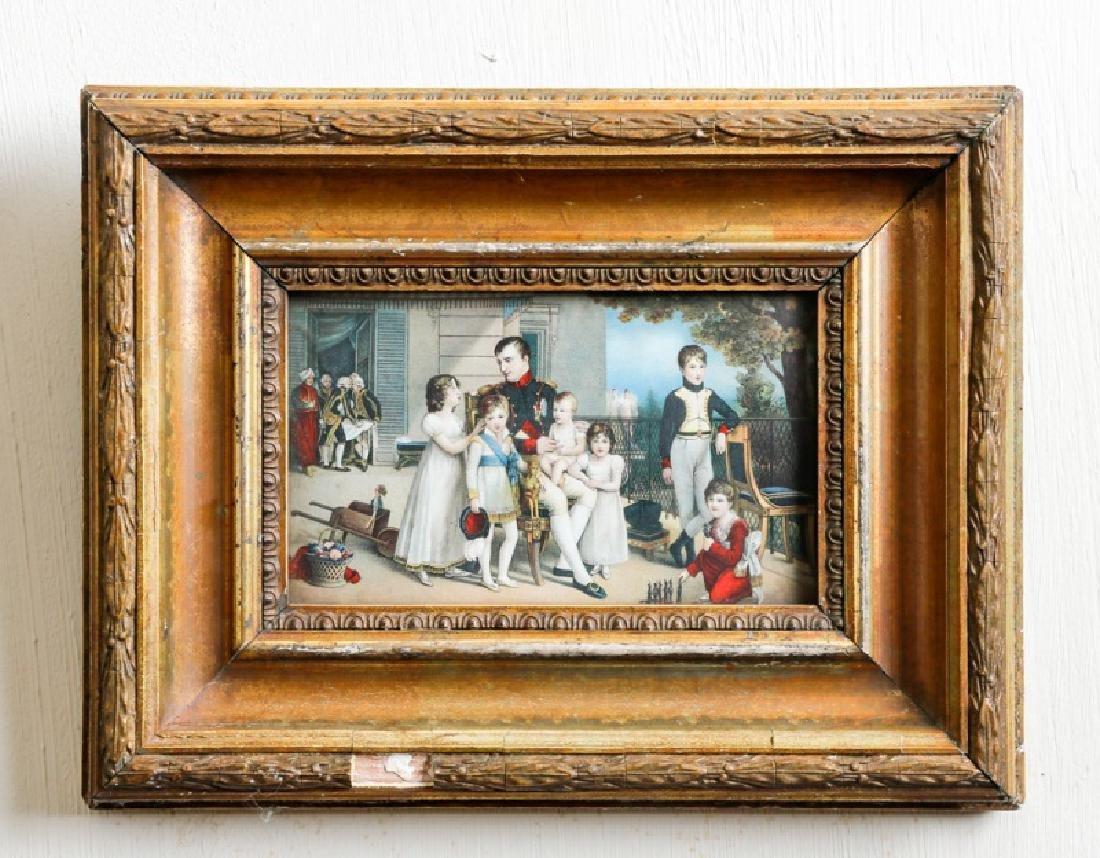 """Louis Ducis, """"Napoleon I with Children,"""" Print"""