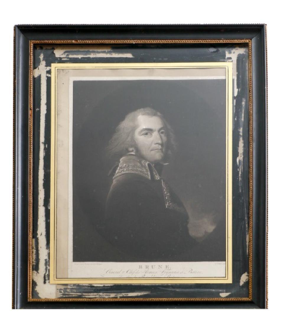 "Charles H. Hodges, ""General Brune,"" Mezzotint"
