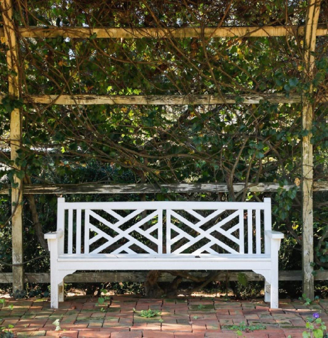 Chinese Chippendale Style Garden Bench