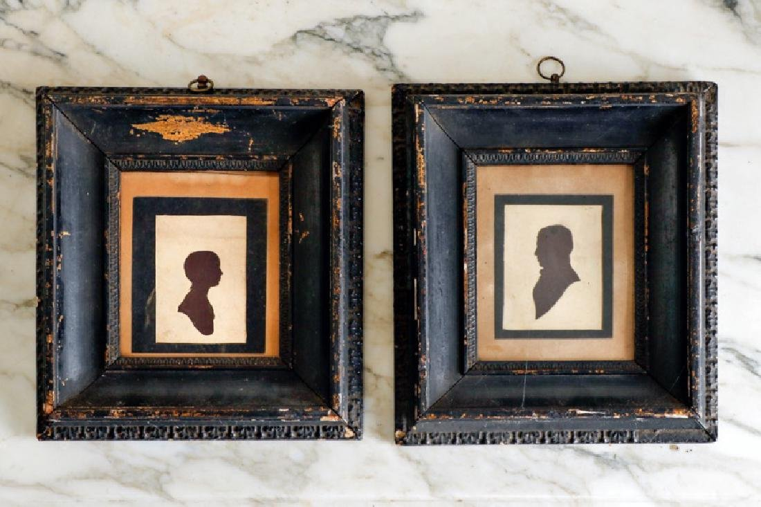 "Pair, Silhouettes ""Gentleman"" and ""Lady"", 19th C"