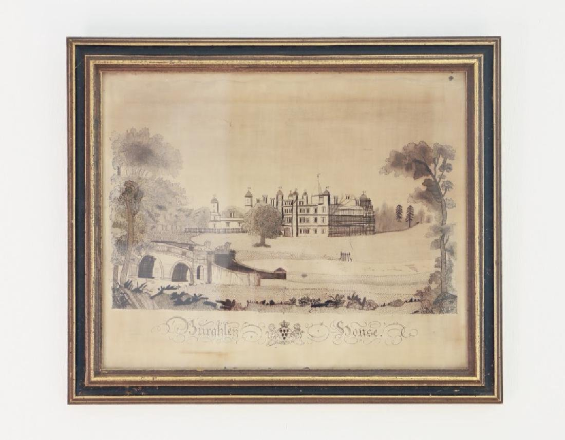"English School, ""Burghley House,"" Print on Paper"