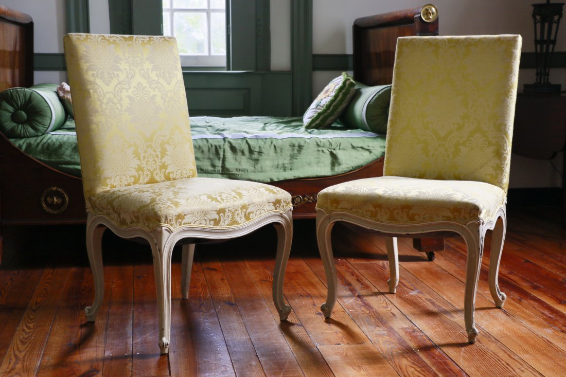 Pair, Louis XIV Style Side Chairs