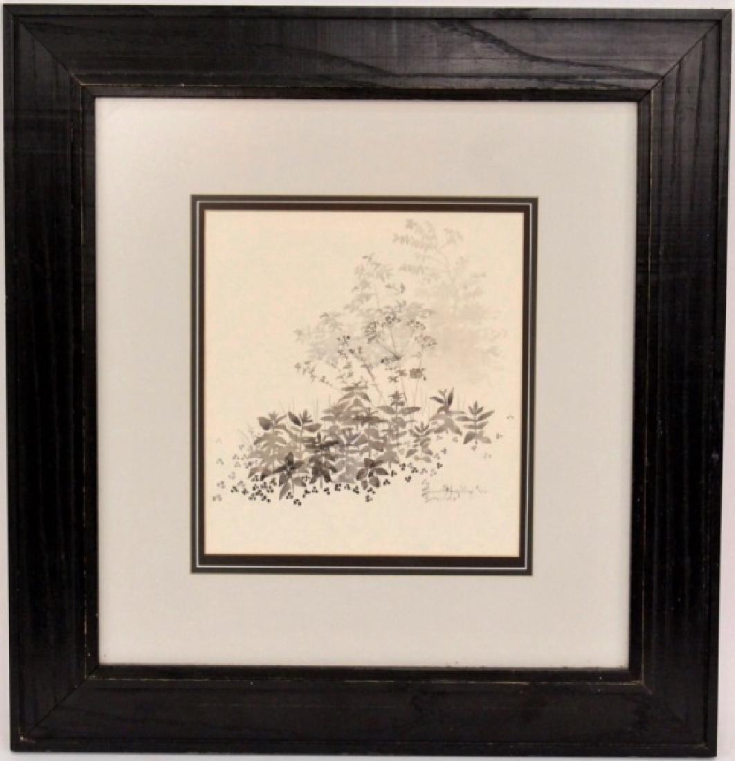 Bruce Hafley Plant Ink Wash