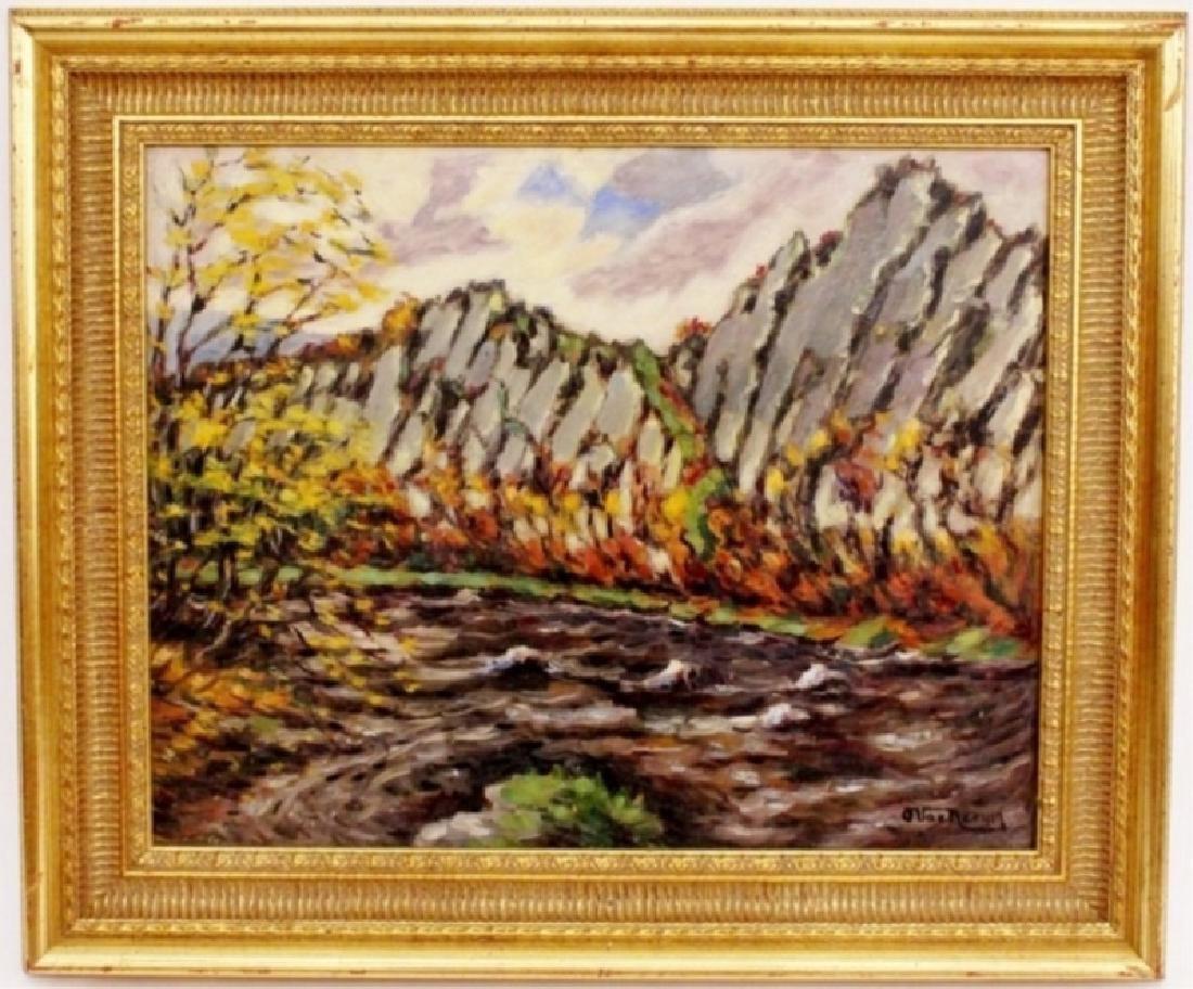 Landscape with Cliffside & River