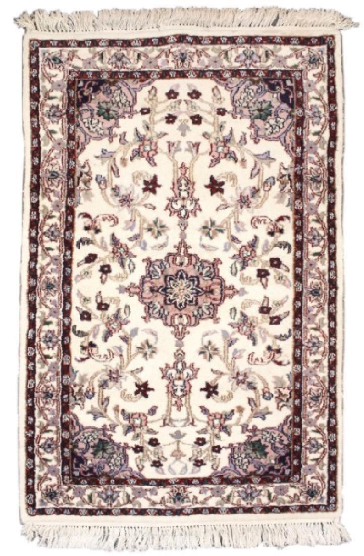 Hand Woven Indo Kashan Indo Rug (3'x 5')