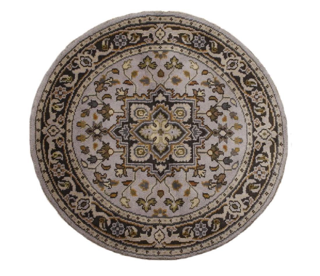 Hand Woven Persian Round Heriz Rug 4' x 4'