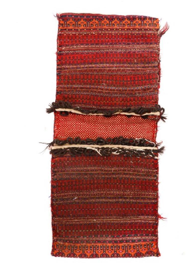 """Hand Woven Turkaman Saddle Bag 1' 7"""" x 3' 7"""""""