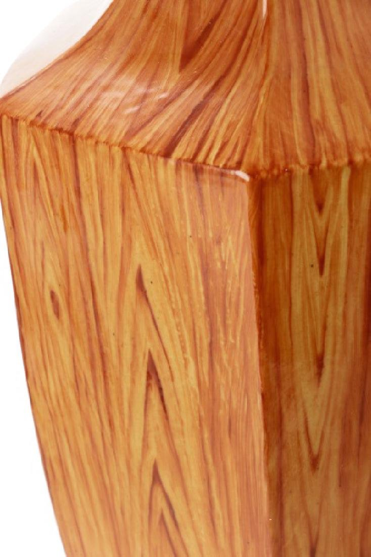 Chinese Ching Dynasty Style Faux Bois Vase - 5