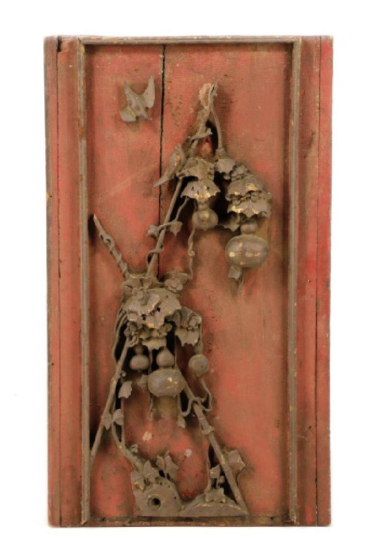 Double Sided Chinese Carved Relief Panel - 3