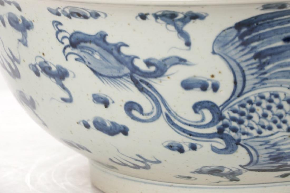 Substantial Chinese Porcelain Phoenix Center Bowl - 5