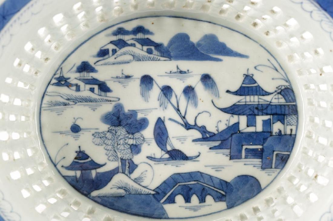 Chinese Porcelain Basket & Royal Vienna Dish - 2