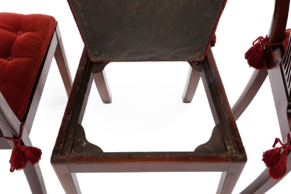 Set of 4 Edwardian Hepplewhite Side Chairs - 10