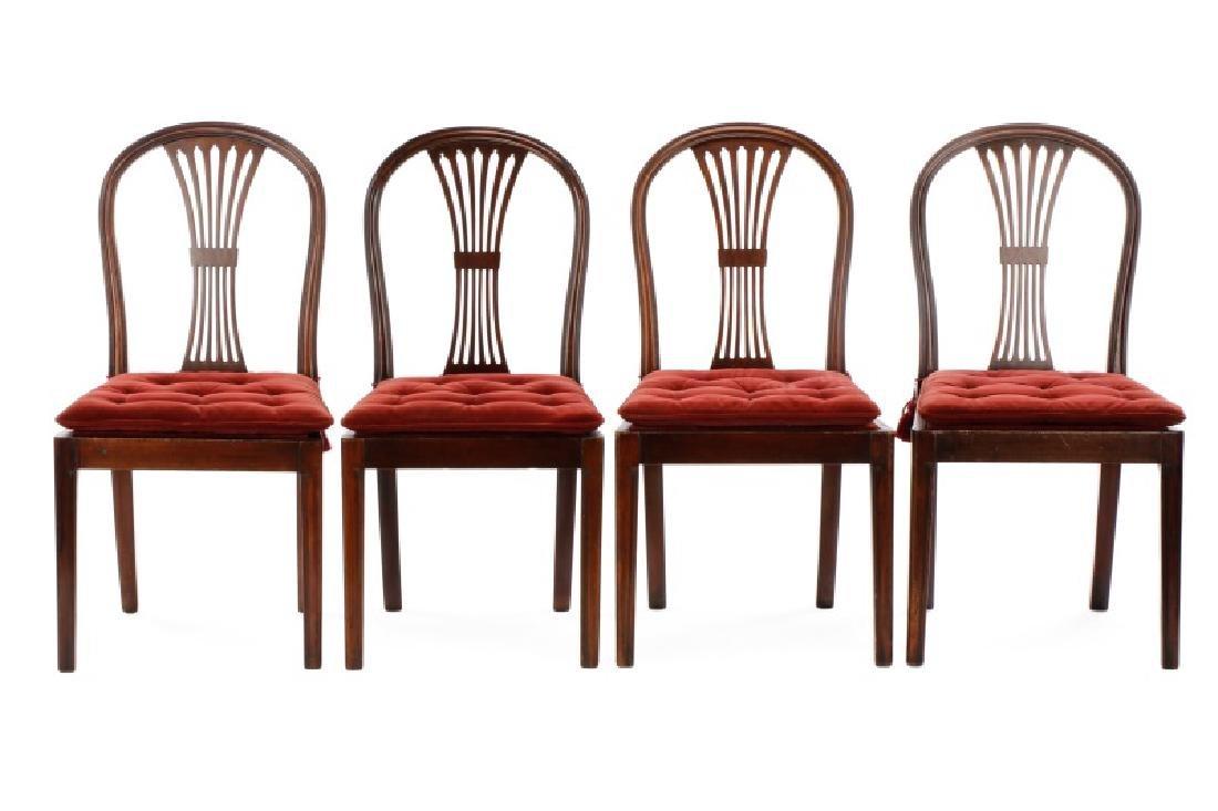 Set of 4 Edwardian Hepplewhite Side Chairs