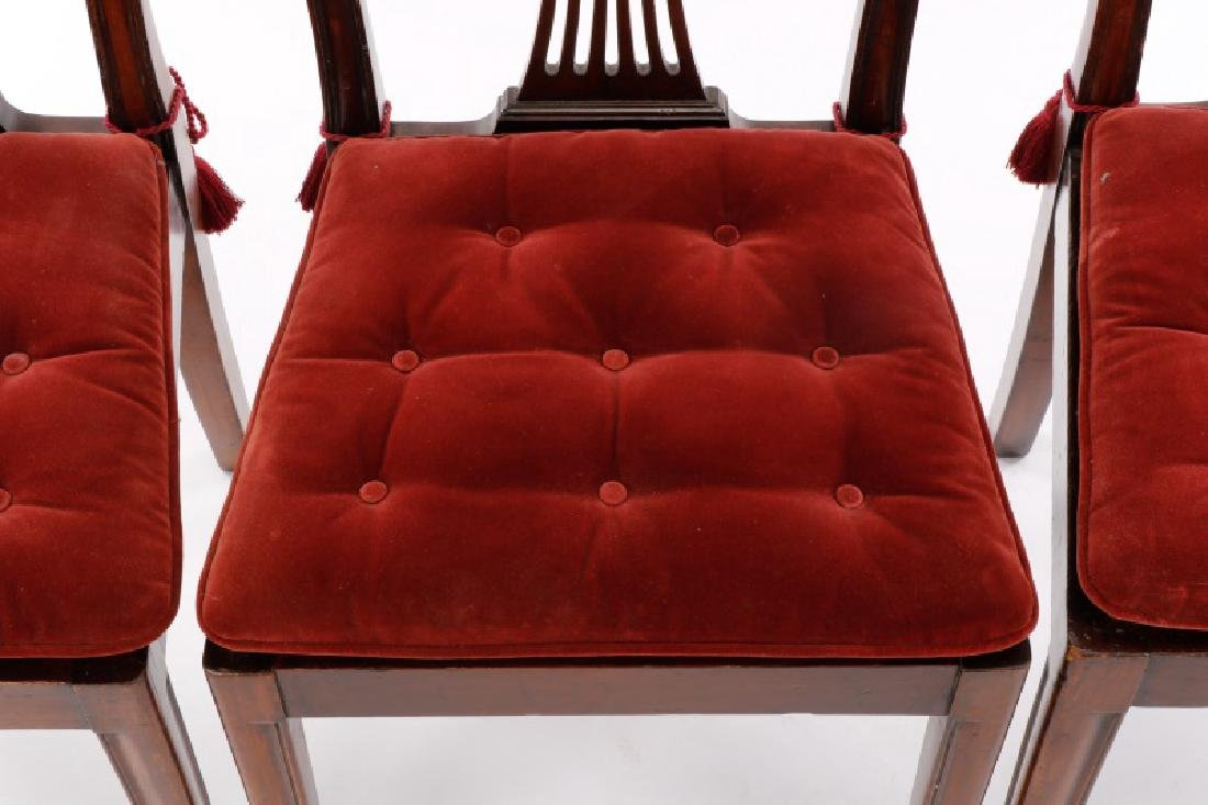 Set of 4 Edwardian Hepplewhite Side Chairs - 3