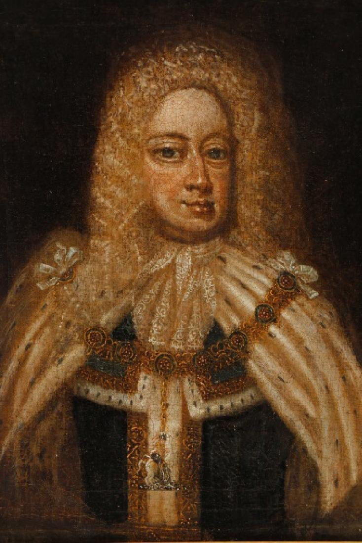 """After Sir Godfrey Kneller, """"King George I"""", Oil - 3"""