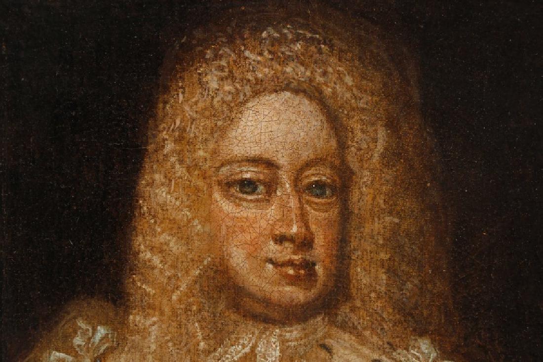 """After Sir Godfrey Kneller, """"King George I"""", Oil - 4"""