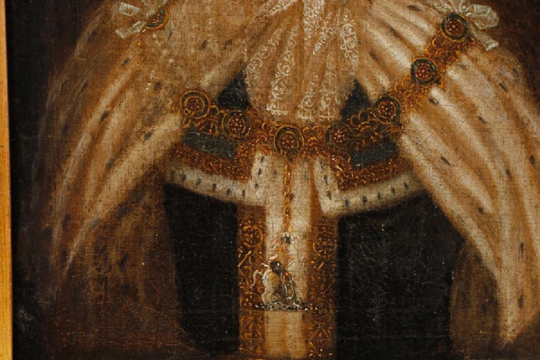 """After Sir Godfrey Kneller, """"King George I"""", Oil - 5"""