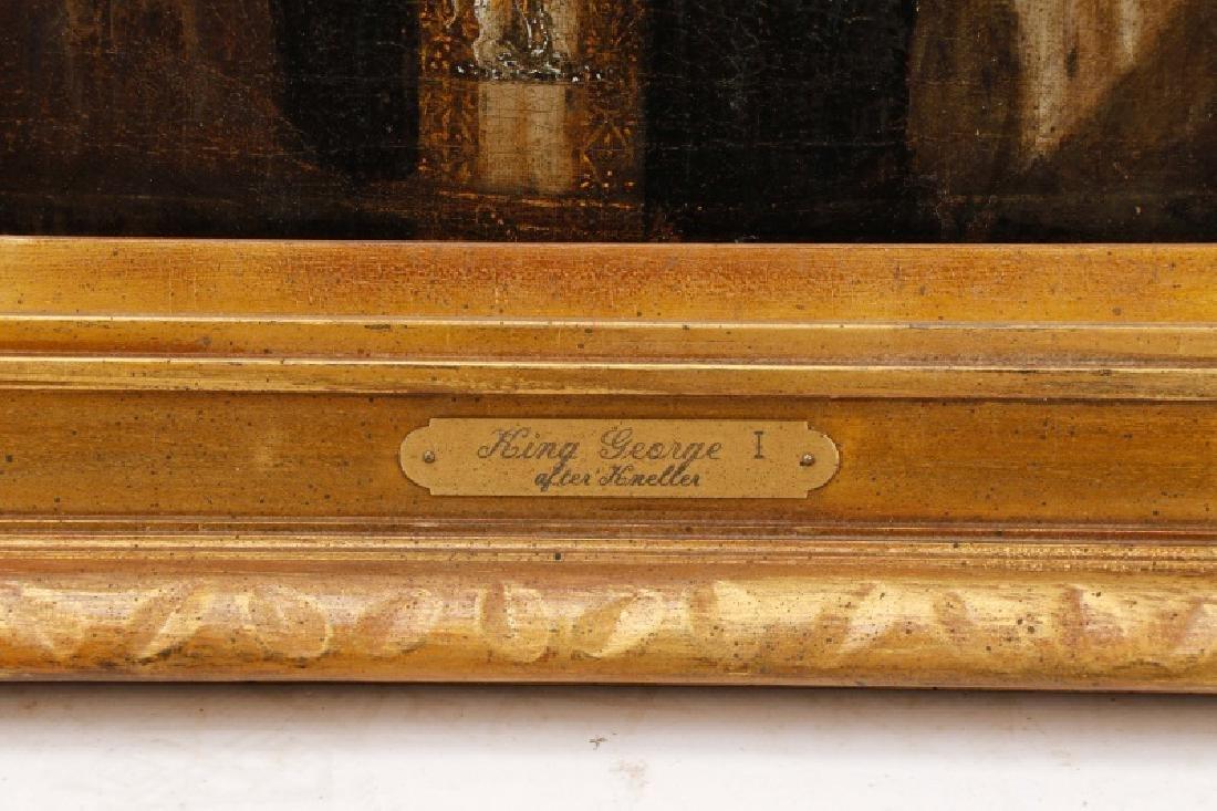 """After Sir Godfrey Kneller, """"King George I"""", Oil - 6"""