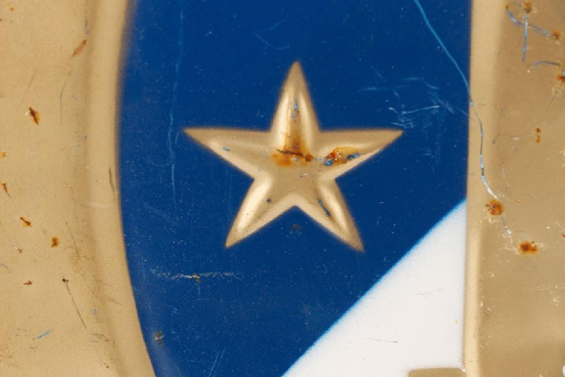 """""""Republic de France"""" Round Metal Medallion - 4"""