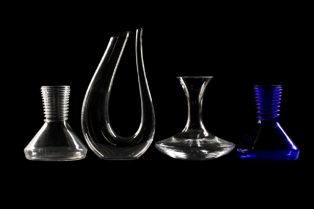 Collection of 4 Riedel Crystal Wine Decanters