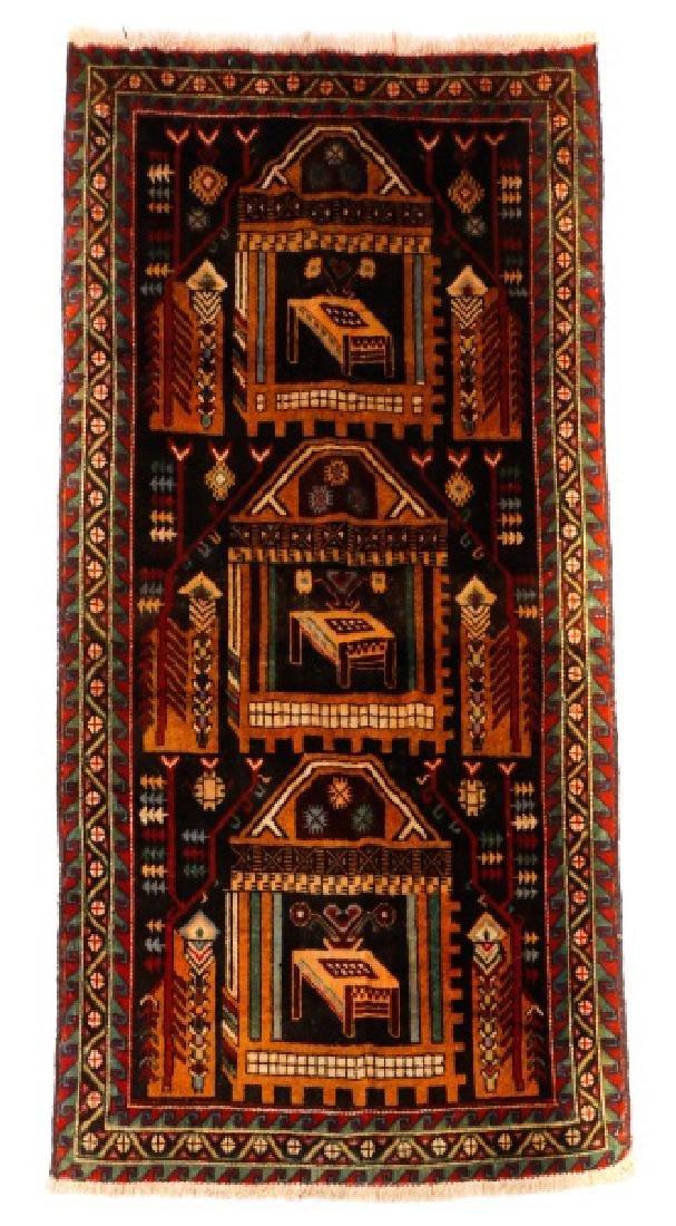 """Hand Woven Persian Balouchi Rug 3' 5"""" x 5' 10"""""""