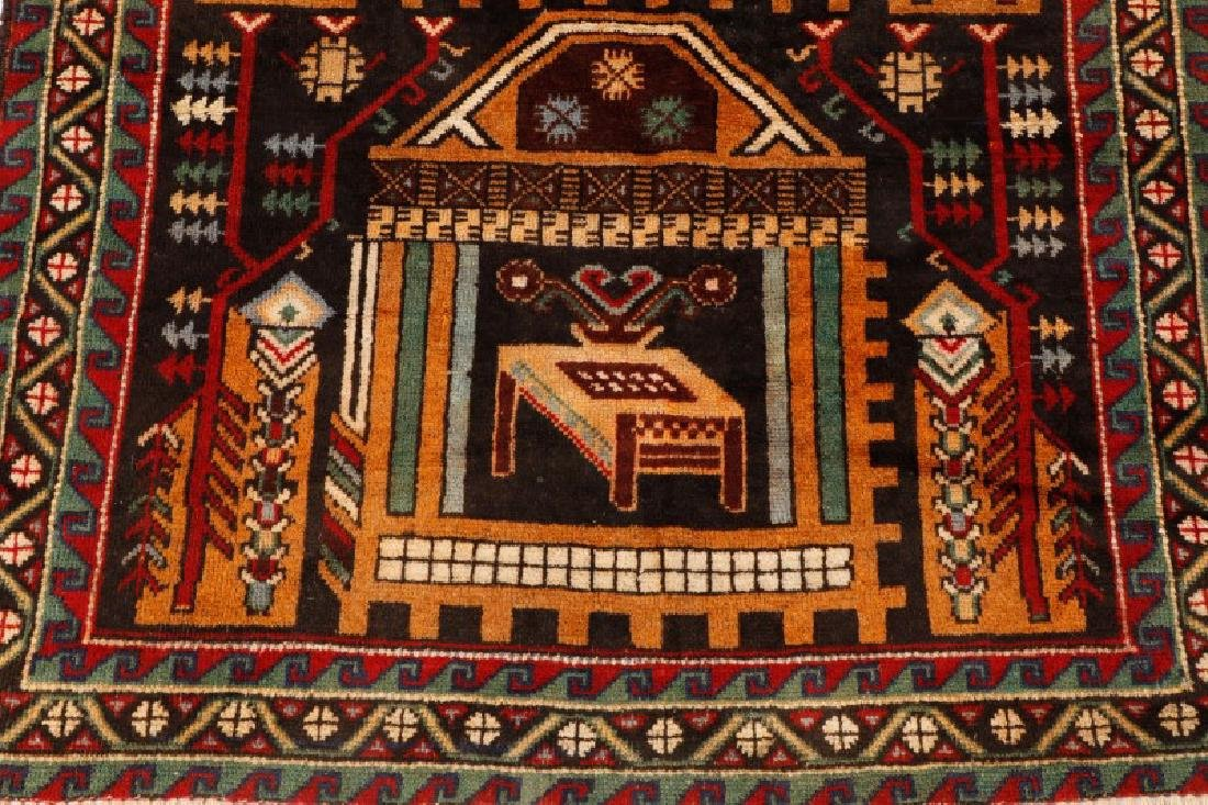 """Hand Woven Persian Balouchi Rug 3' 5"""" x 5' 10"""" - 2"""