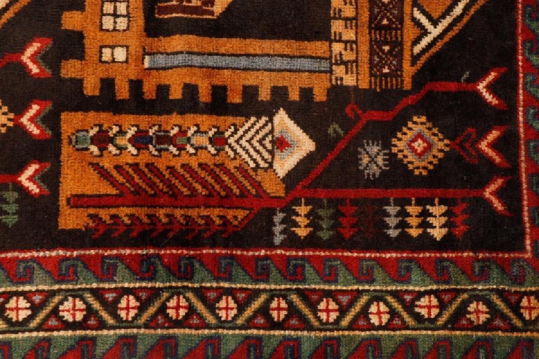 """Hand Woven Persian Balouchi Rug 3' 5"""" x 5' 10"""" - 5"""