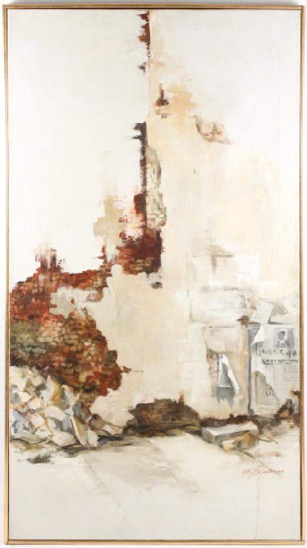 "Kitty Brandfield, Oil on Canvas, ""Cityscape"""