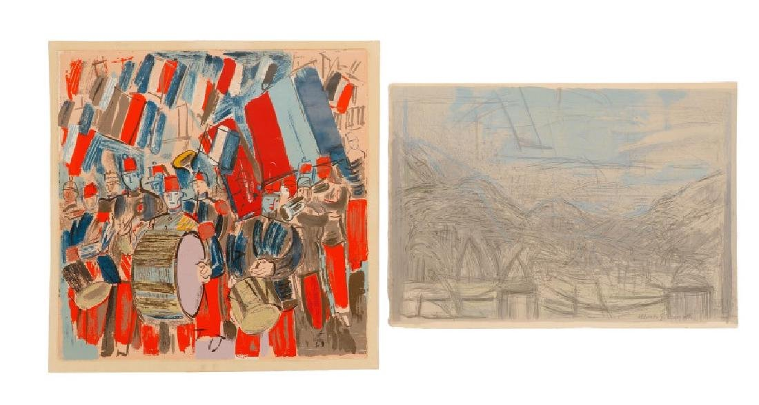 Two Lithographs, After Giacometti & Dufy
