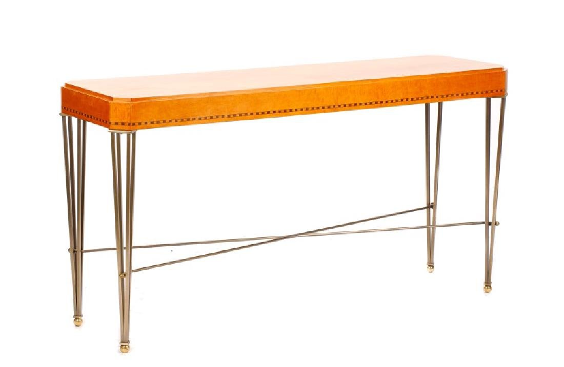 Modernist Maple Console Table