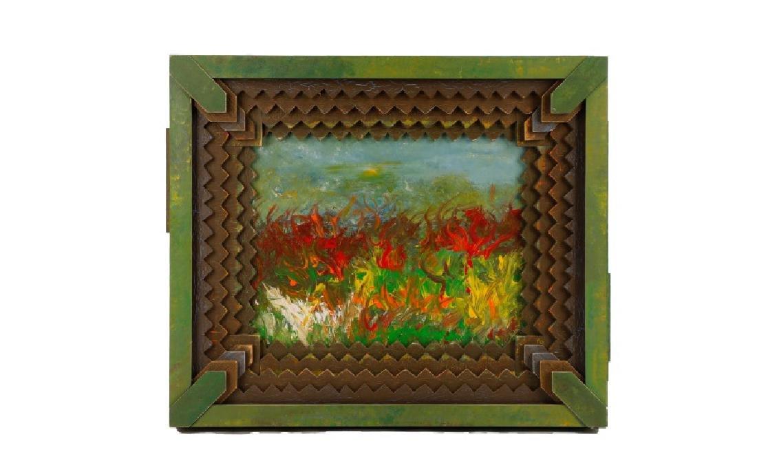 "Arthur Riggs, ""Rural Renewal"" Acrylic on Board"