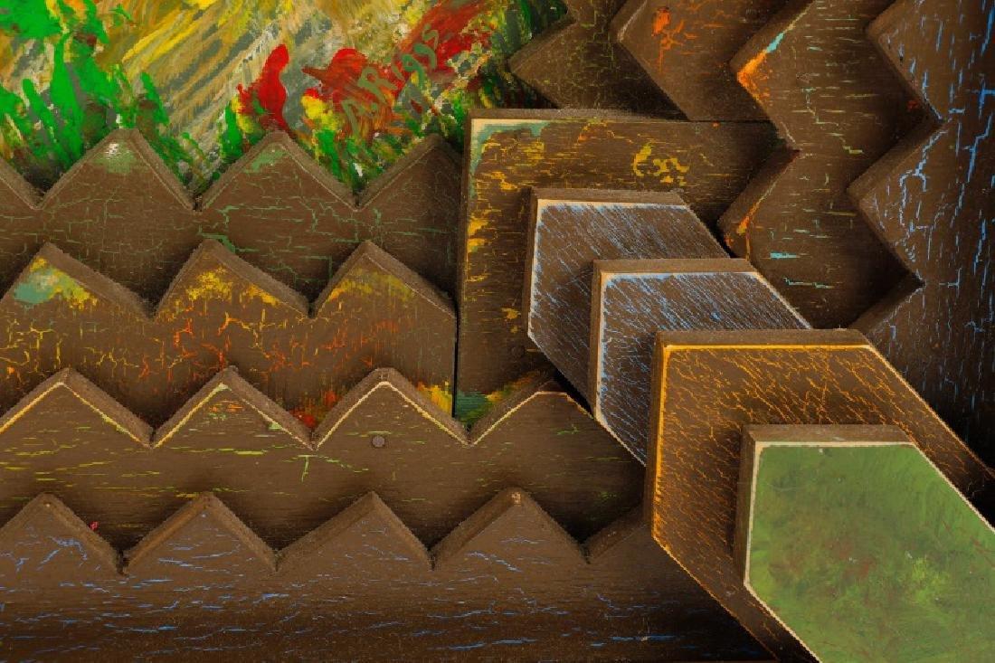 "Arthur Riggs, ""Rural Renewal"" Acrylic on Board - 4"