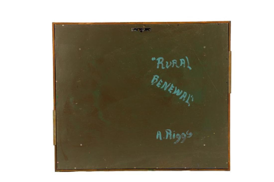 "Arthur Riggs, ""Rural Renewal"" Acrylic on Board - 5"