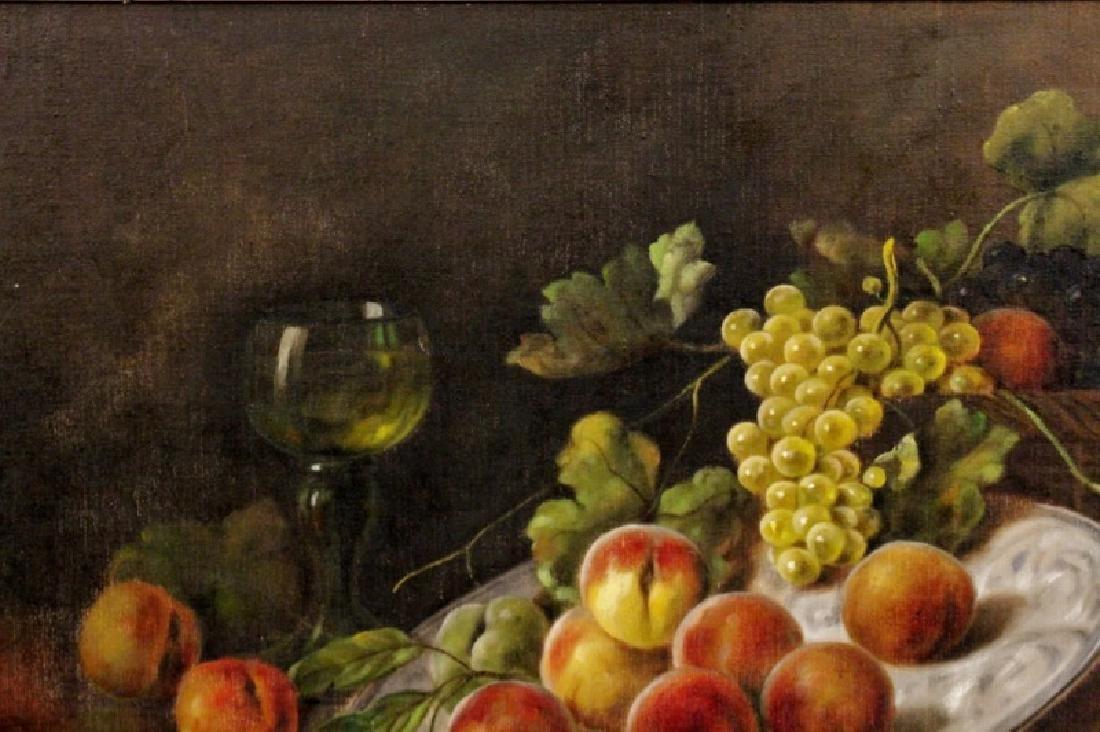 Zabehlicky Still Life with Fruit Oil, Signed - 2