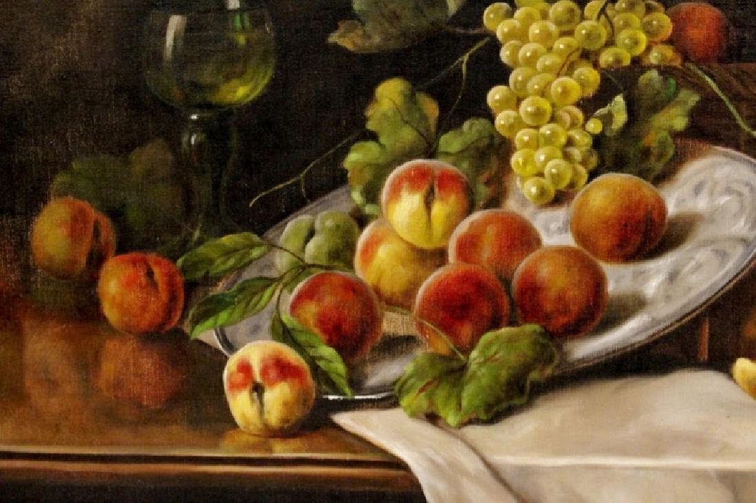 Zabehlicky Still Life with Fruit Oil, Signed - 4